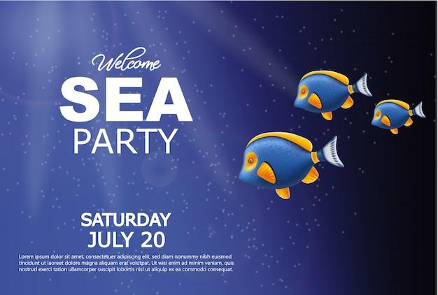 Poster subacqueo mare