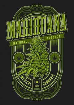 Poster verde marijuana