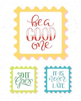 Poster vintage con citazione di motivazione su sfondo astratto