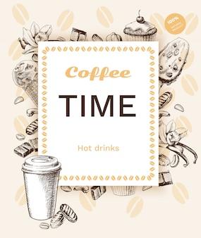 Poster vintage di caffè
