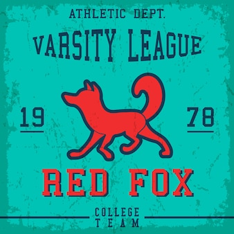 Poster vintage fox