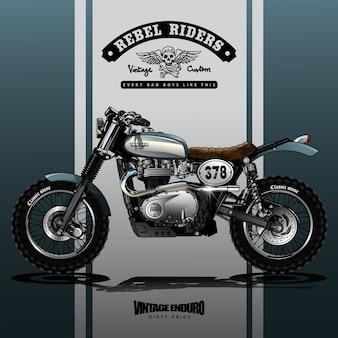 Poster vintage srambler motorcycle