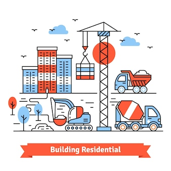 Posto di costruzione residenziale