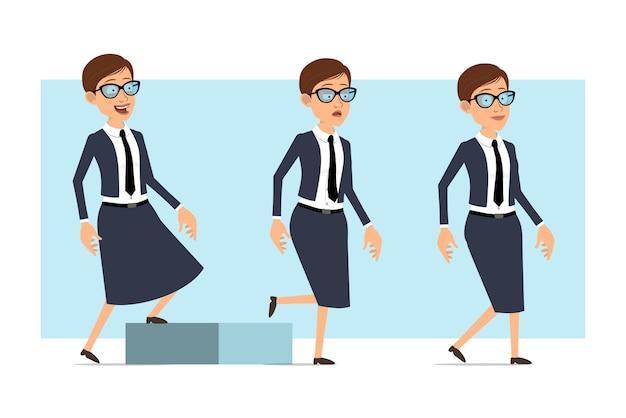Posture di carattere donna allenatore di affari del fumetto