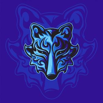 Potente volpe blu
