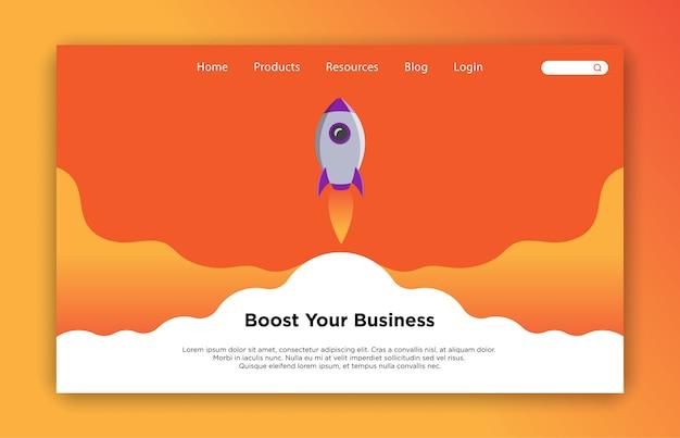 Potenzia il tuo modello di pagina di destinazione aziendale