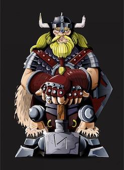 Potere antico molto grande e potente di viking del nord