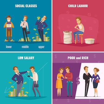 Povero e ricco concetto 2x2
