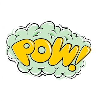 Pow! supereroe in stile fumetto esplosione