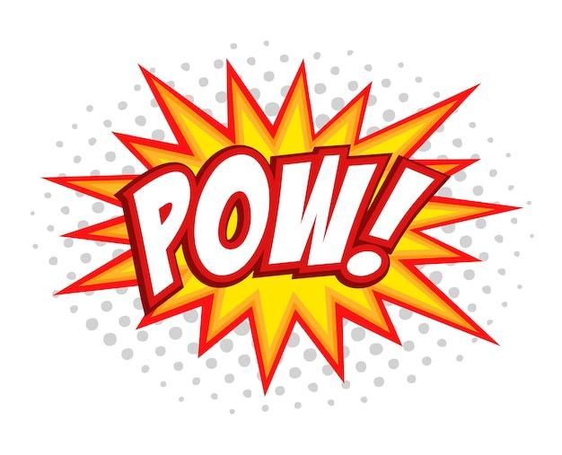Pow! testo di bolla di fumetto comico