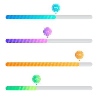 Preloader gradiente. barra di caricamento per interfacce web. modello.