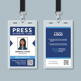 Premere il modello di carta di identità del giornalista