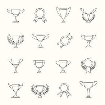Premi e icone della linea del premio