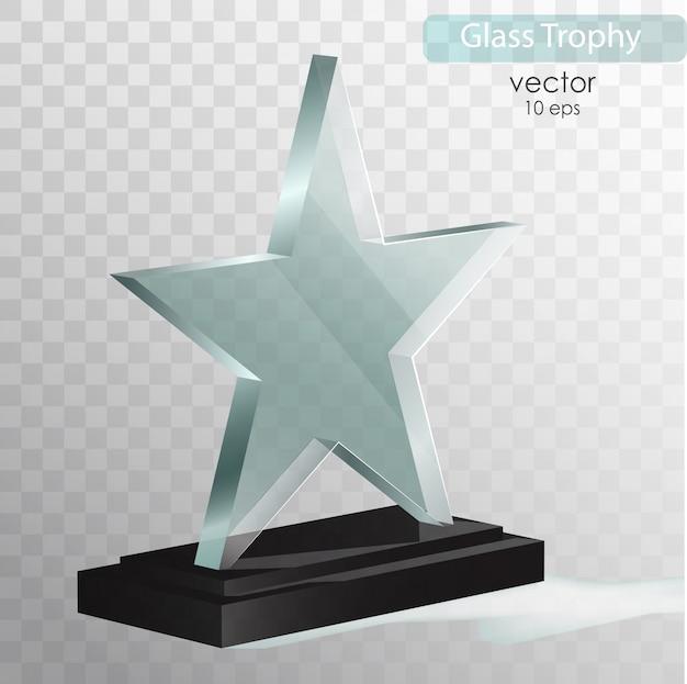 Premio del trofeo di vetro.