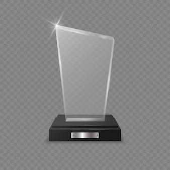 Premio del trofeo di vetro