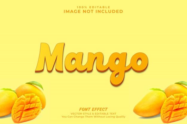 Premio effetto testo mango