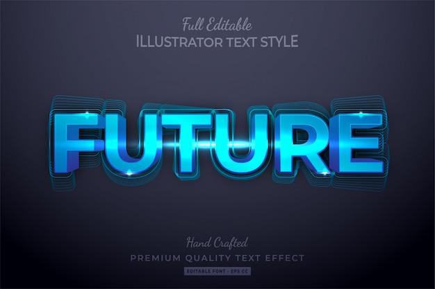 Premium modificabile effetto stile testo modificabile