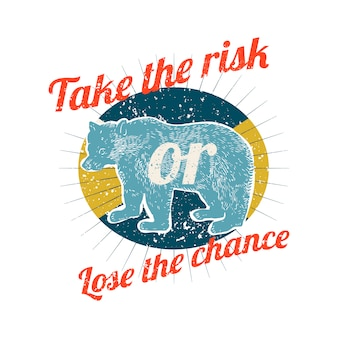 Prendere rischi illustrazione logo
