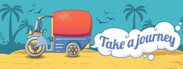 Prendi un banner di viaggio tailandese