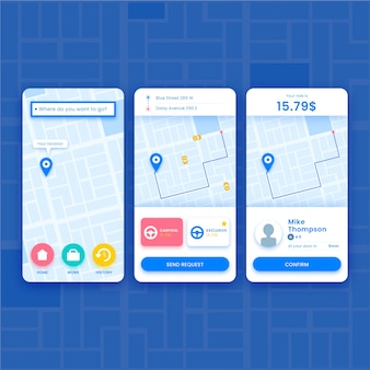 Prenota il tuo taxi sull'app mobile
