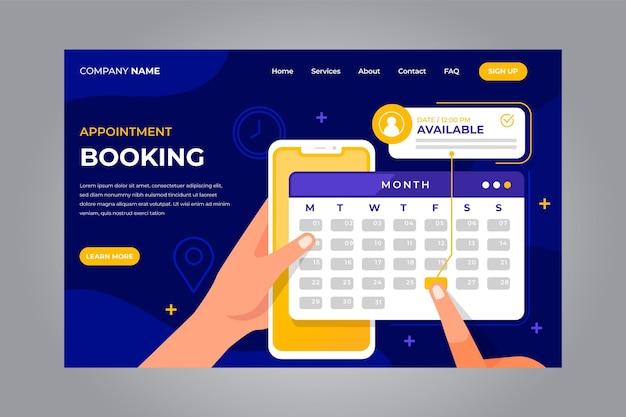 Prenotazione appuntamento - landing page
