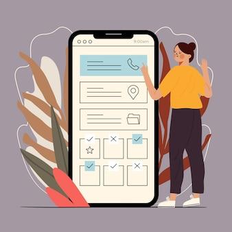 Prenotazione di appuntamenti con promemoria per smartphone