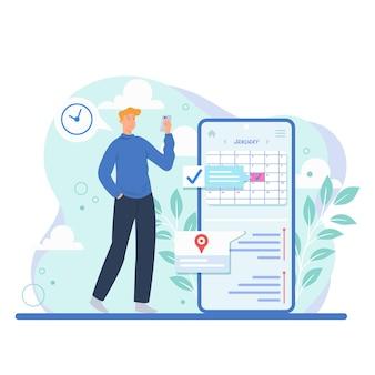 Prenotazione di appuntamenti sul concetto mobile