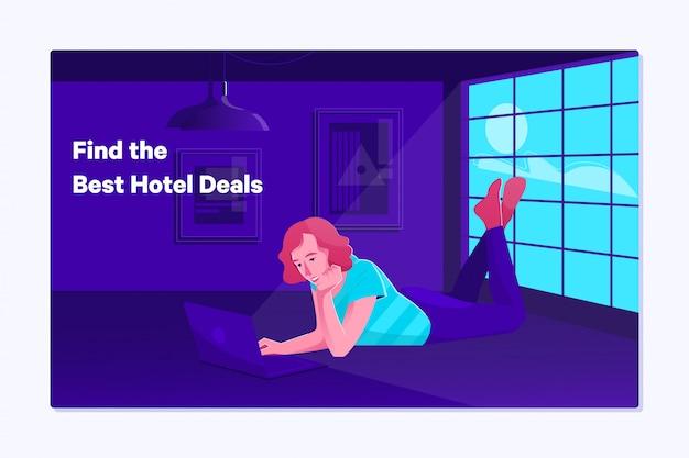 Prenotazione prenotazione prenotazione donna su tavoletta digitale