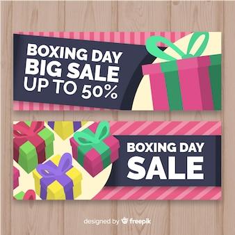 Presenta banner di vendita al giorno di boxe di gruppo