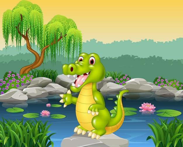 Presentazione del coccodrillo carino