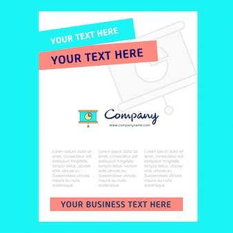Presentazione del design della pagina del titolo dell'azienda