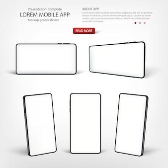 Presentazione del modello di smartphone dell'interfaccia.