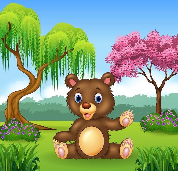 Presentazione dell'orso divertente del fumetto