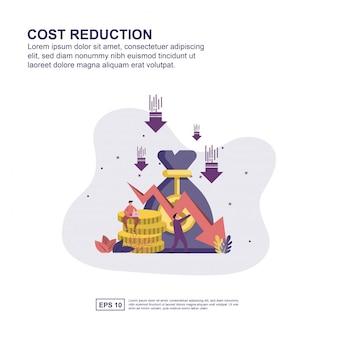 Presentazione di riduzione dei costi, promozione sui social media, banner