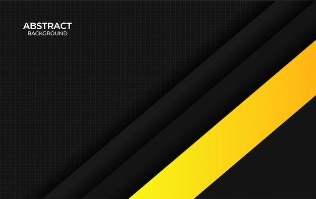 Presentazione di sfondo design giallo e nero