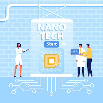 Presentazione per nano tech center in loft style