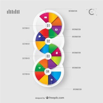 Presentazione sezioni infographic vector