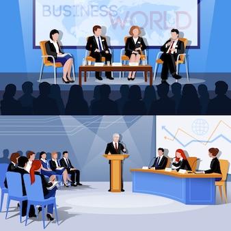 Presentazioni della conferenza internazionale del mondo degli affari