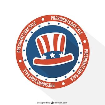 Presidenti giorno vendita distintivo