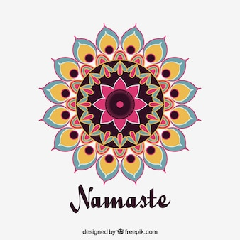 Pretty mandala namaste background