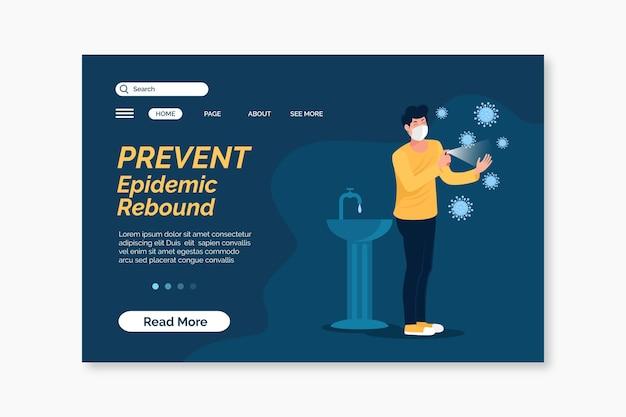 Prevenire il modello di landing page di rimbalzo epidemico