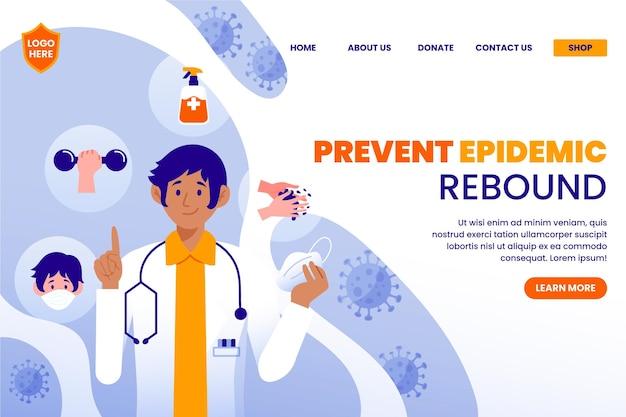 Prevenire la pagina di destinazione del rimbalzo dell'epidemia