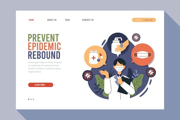 Prevenire la pagina di destinazione del rimbalzo epidemico