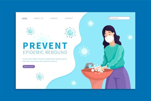Prevenire la pagina di destinazione dell'estensione dell'epidemia