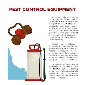 Prevenzione dei parassiti significa manifesto informativo con testo di esempio