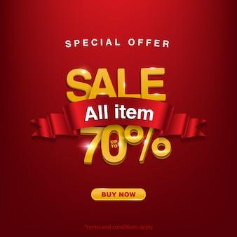 Prezzo speciale, offerta speciale vendita tutto il prodotto fino al 70%