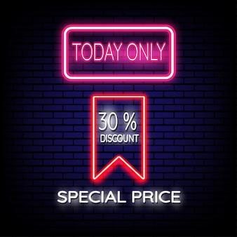 Prezzo speciale segno al neon di vendita