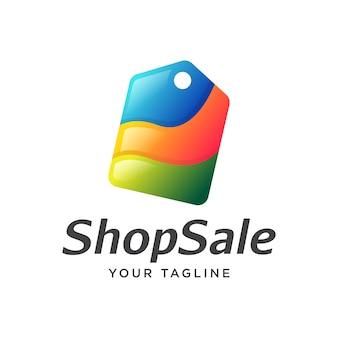 Prezzo tag vendita shopping logo moderno
