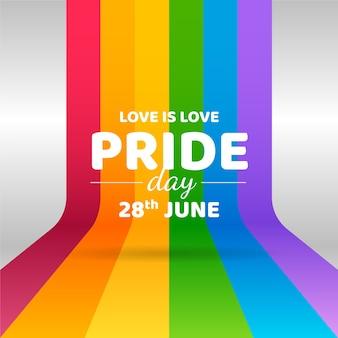 Pride day con il design della bandiera
