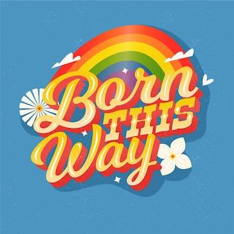 Pride day lettering design